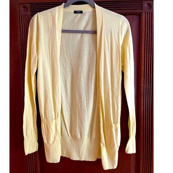 Jcrew lightweight yellow cardigan
